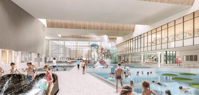 Artist impression - leisure water area