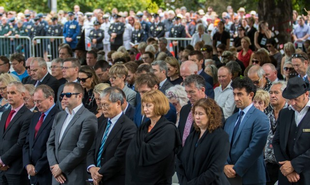The memorial was unveiled to the public at the sixth anniversary commemoration service