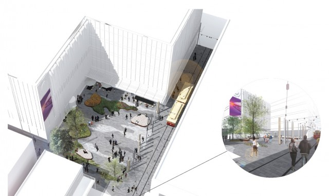 Artist impressions of gathering spaces