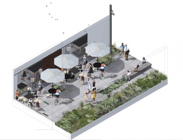 Artist impression of public space