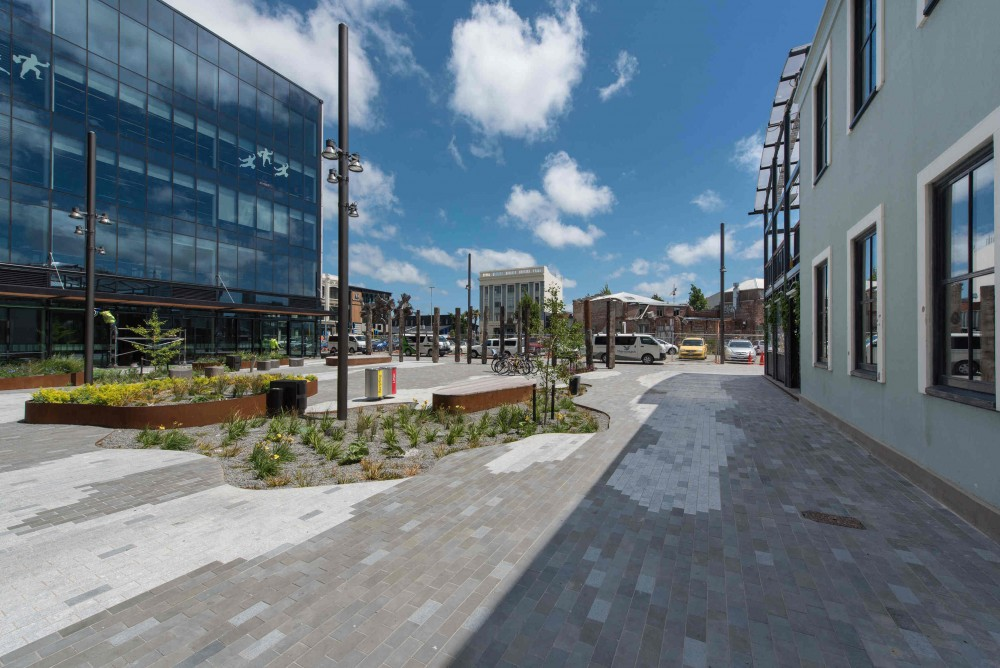 Vanguard Square is a reference to the future and those leading the way with new ideas and developments